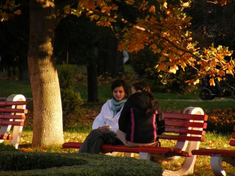 girls in park by system0failure