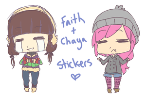 Faith and Chaya Stickers by Xylerz