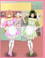 Blossom And Buttercup Maids by AlyHisanaKurosaki16