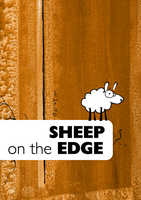 Sheep on the Edge by Lukc