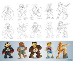 Classic Monsters - Gaming Edition - Step by Step by tabu-art