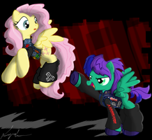 FlutterThrash and Inverso Beam by FlutterThrash