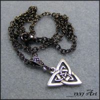 Celtic Necklace for Men by 1337-Art