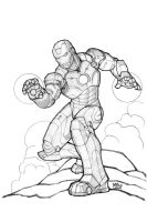 iron man- pencils by MikeDimayuga