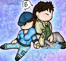 Chris + Jill Chibis again by Striped-Tie