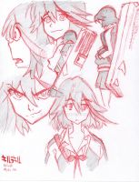 Ugly Sketch: Kill La Kill Ryuko by Gotsoul808