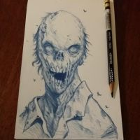 Zombie portrait 1 by graphitenightmare