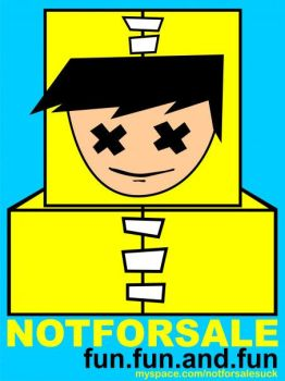 Not For Sale Logo Robot by apandi