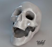 Ceramics skull Ashtray by Vidal-Design