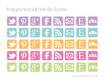 Happy Social Media Icons by maytel