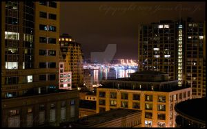 Seattle at Night 4 Mar 09 III by urnightmare