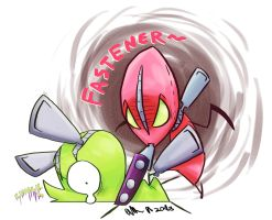PSG- Chuck and Fastener by FutureCrazyCatLady