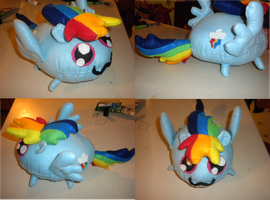 Rainbow Blob Plushie by jrk08004