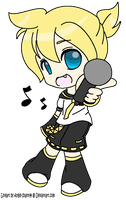 Len Kagamine 'Let's Sing!' by The-Insane-Puppeteer