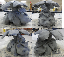 VENUSAUR CLAY WIP by ieaka