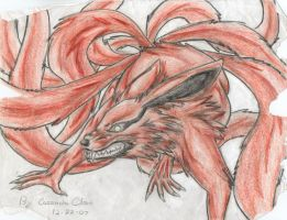 old nine tailed fox drawing by FuNiSmYwAy