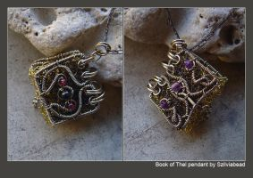 The book of Thel pendant by bodaszilvia