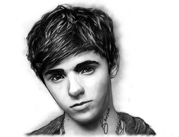 Drawing of Nathan Sykes by BrunaDM