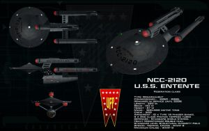 Federation class ortho - USS Entente by unusualsuspex