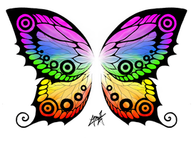 Butterfly Wings T-Shirt Print by ZephyrXenonymous