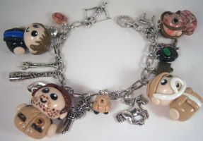 The Walking Dead Charm Bracelet by sweet-geek