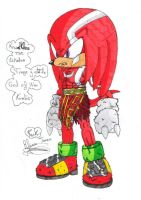 Knuckles Kratos by rickhedgehog