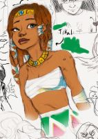 Tikal the human by Chrissy-Christine