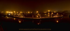 Thomas Basin in the Fog at Night by Muskeg