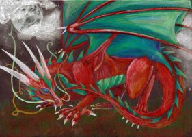 Red dragon AT by BobbyDazzl3r