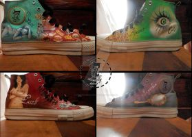 Converse of 7 sins handmade by FireFoxBloody