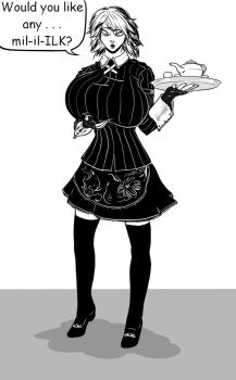 Sakuya offering her services by immortaltom