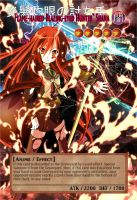 Yugioh! Orica: Shana Monster Card by animereviewguy
