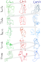 Trial Triangle Starters - WIP by Porygoon