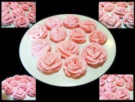 Rose Meringue Cookies Part 2 by callykarishokka