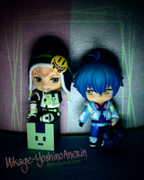 Noiz and Aoba with Ren by Mikage-YoshinoAnerin