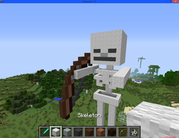 Minecraft: Skeleton by artfanloveswolves