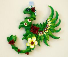 Green Dragon Wall Hanging by LittleDragonDesigns