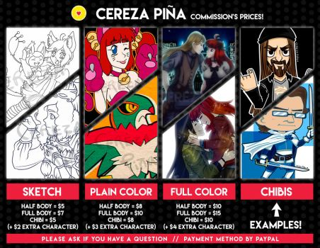Commissions list by CerezaPina