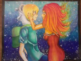 Finn and Flame Princess by SaiChansArt