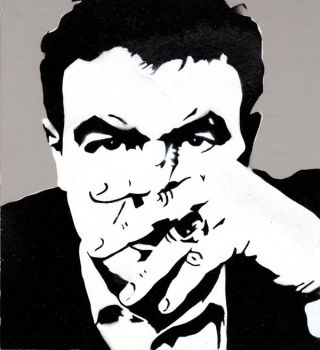 Raymond Carver in 1984 by color-me-red