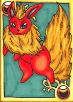 Flareon Gold ACEO by Foxy-Sketches