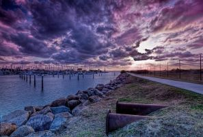 Scarborough sunset by GeoffSporne
