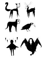 Shadow creatures by littlemissbubbles