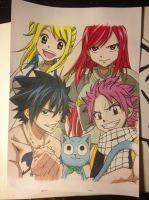 Fairy Tail Gang by Karina-o-e