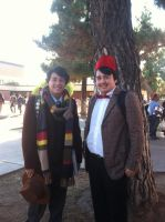 This is me and a random guy as two Doctor's by CursedFlame101