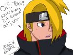 Deidara ate too much junk food... by irmawong