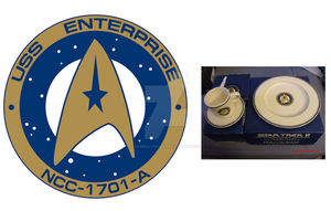Undiscovered Country Enterprise-A dinner set logo by admiral-reliant