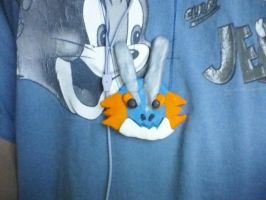 Swampert Necklace by Wendy-Cloud-Dragon
