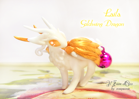Laila, Goldwing Dragon by rosepeonie