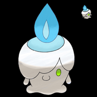 Pokemon 5G Shiny Litwick by etherspear